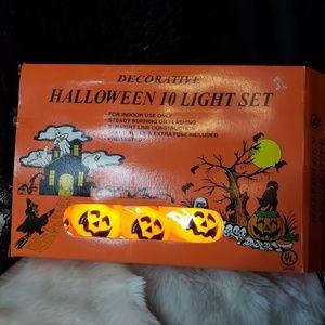 Vintage brand new 1950s pumpkin string lights!